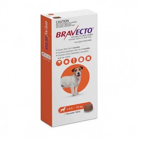 4.5-10kg Perros - 1 Tableta Para Pulgas y Garrapatas / Bravecto