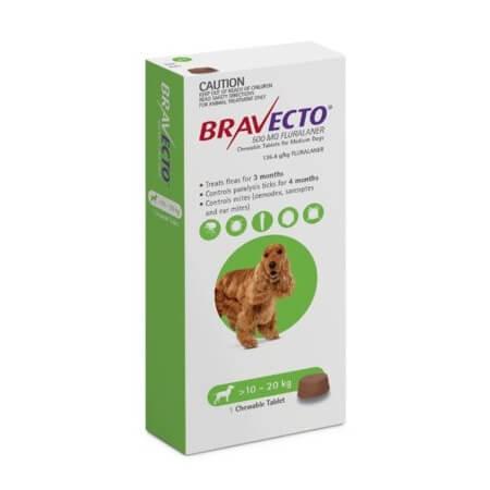 10-20kg Perros - 1 Tableta Para Pulgas y Garrapatas / Bravecto