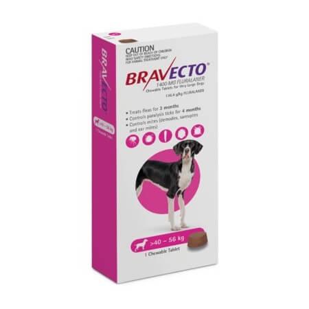 40-56kg Perros - 1 Tableta Para Pulgas y Garrapatas / Bravecto