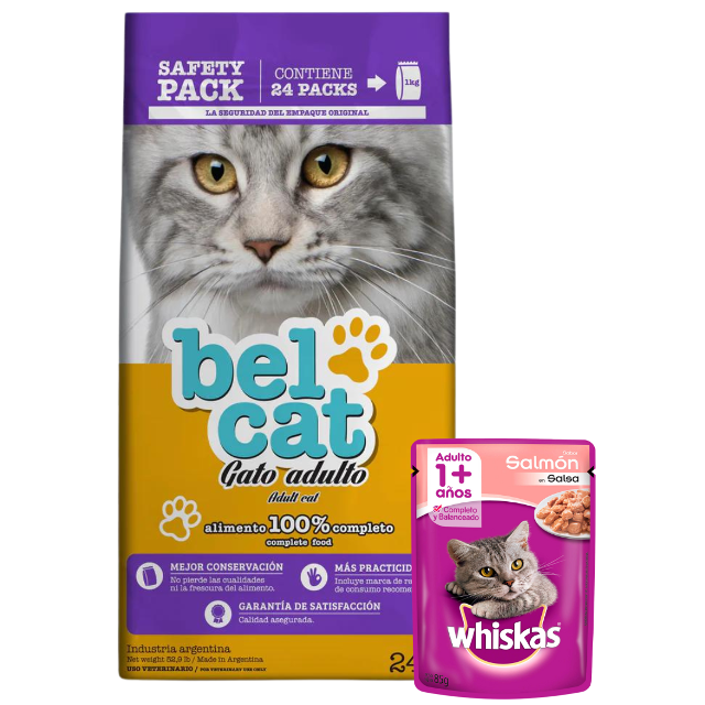 24Kg - Gato Adulto (Pack 24uni. de 1kg) / Belcat