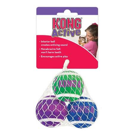 Juguete - Cat Active Tennis Balls With Bells / Kong