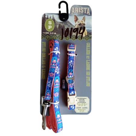 Pequeña - Collar Con Correa Azul / Arista
