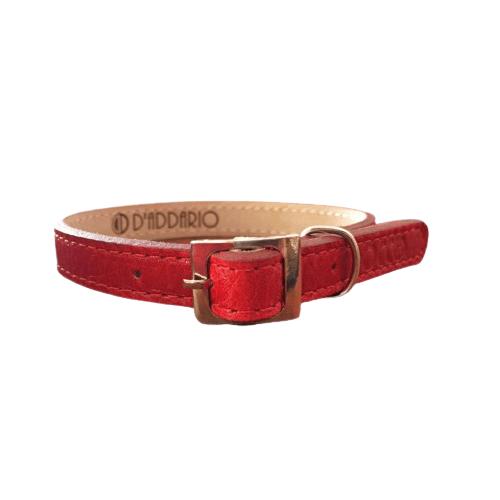 Gatito de 19 a 23cm - Collar Rojo de Cuero / Rocco