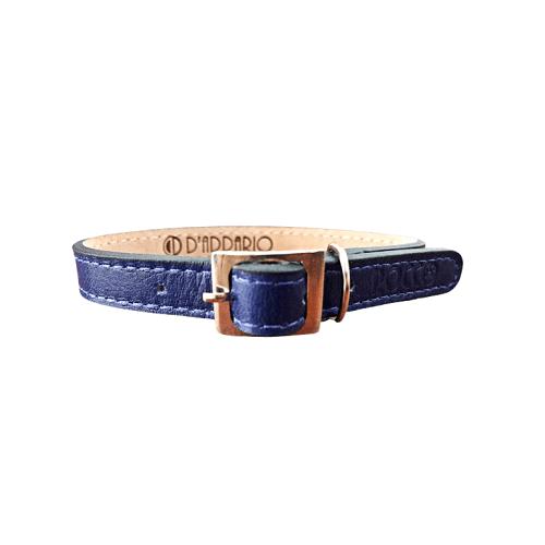 Gatito de 19 a 23cm - Collar Azul de Cuero / Rocco