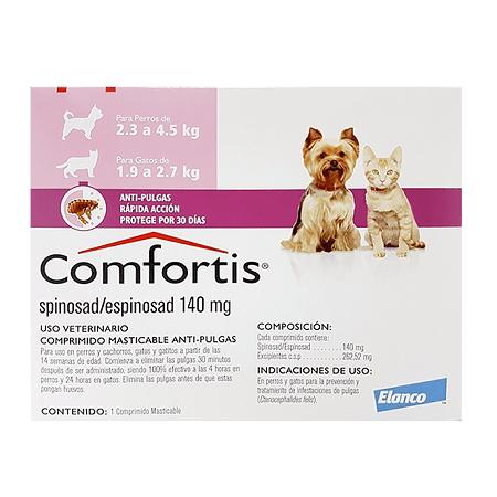 1.9kg a 2.7kg Gatos - 1 Tableta Para Pulgas / Comfortis
