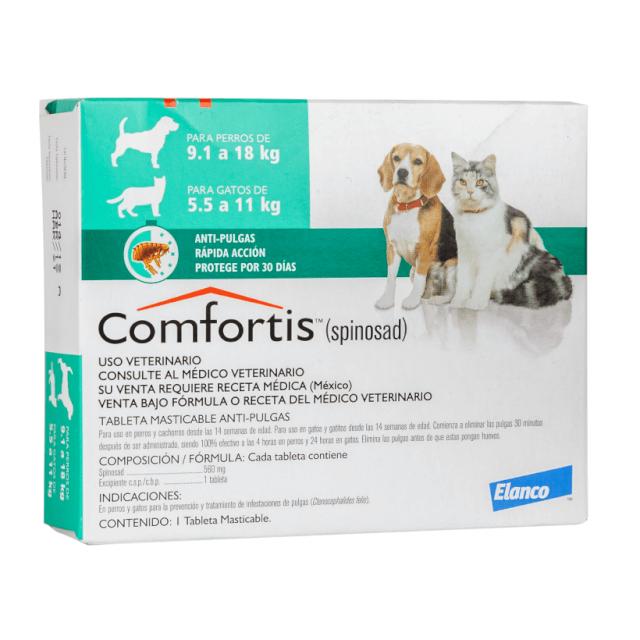 5.5kg a 11kg Gatos - 1 Tableta Para Pulgas / Comfortis