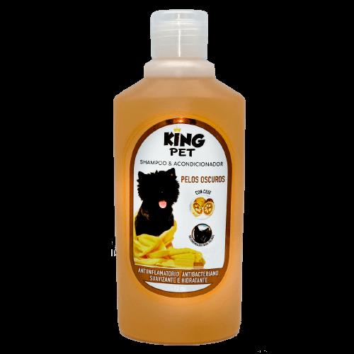 400ml - Pelos Oscuros Shampoo + Acondicionador / King Pet