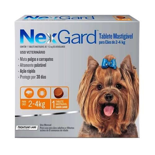 2-4kg Perros - 1 Tableta Para Pulgas y Garrapatas / NexGard