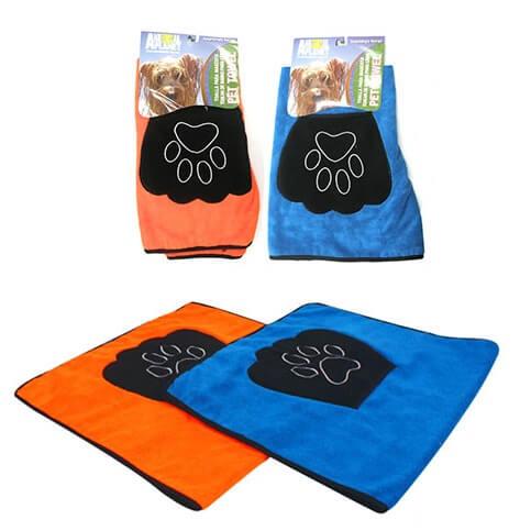 85x50cm - Toalla Azul Para Mascotas / Animal Planet