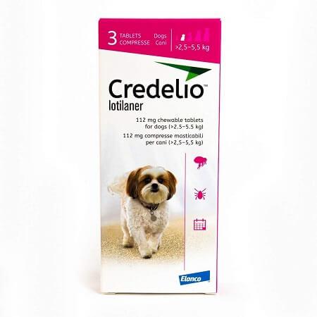 2.5kg a 5.5kg Perros - 3 Tabletas Para Pulgas y Garrapatas / Credelio