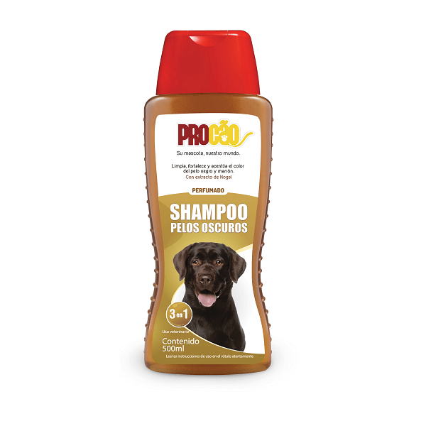 500ml - Shampoo Pelos Oscuros / Procao