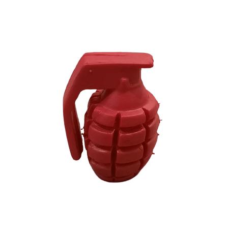 Juguete - Granada de Goma Rojo / Pets Plast