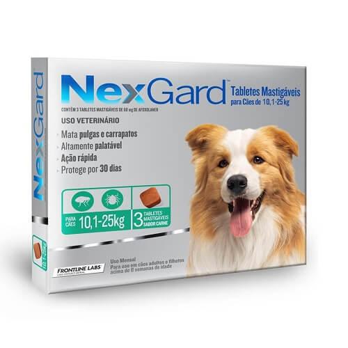 10-25kg Perros - 3 Tabletas Para Pulgas y Garrapatas / NexGard