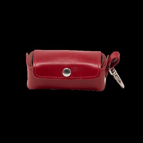 Rojo - Dispensador de Bolsas de Cuero / Rocco