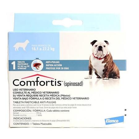 18kg a 27.2kg Perros - 1 Tableta Para Pulgas / Comfortis