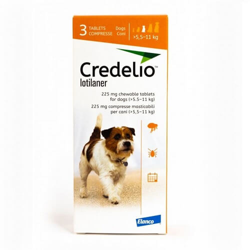 5.5kg a 11kg Perros - 3 Tabletas Para Pulgas y Garrapatas / Credelio