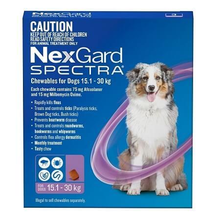 15-30kg Perros - 1 Tableta Para Pulgas y Garrapatas / NexGard Spectra