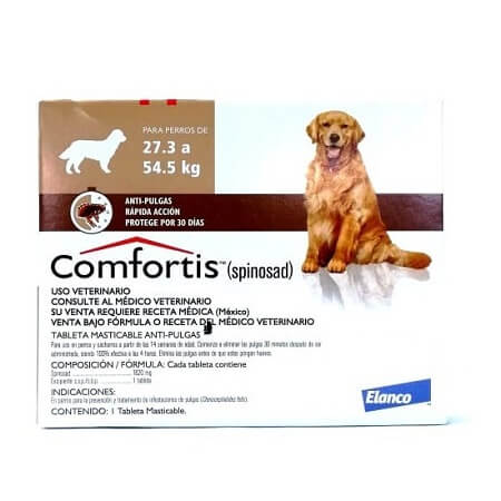 27.3kg a 54.5kg Perros - 1 Tableta Para Pulgas / Comfortis