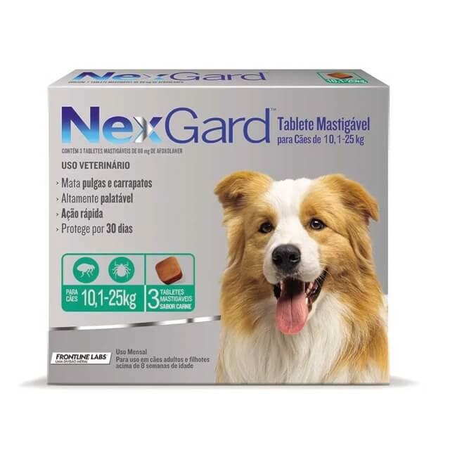 10-25kg Perros - 1 Tableta Para Pulgas y Garrapatas / NexGard