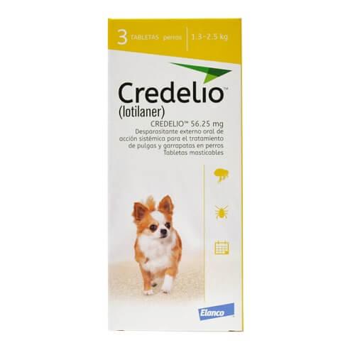 1.3kg a 2.5kg Perros - 3 Tabletas Para Pulgas y Garrapatas / Credelio