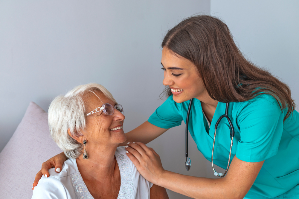 Nurse talking with a patient