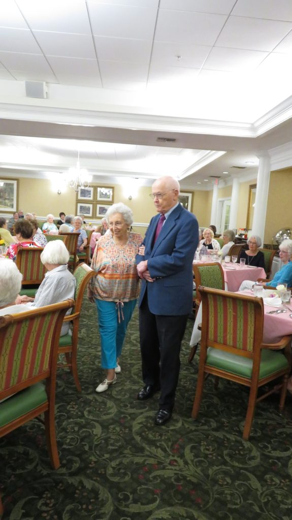 Fashion Show Luncheon on Friday, June 1, 2018. Guests enjoyed lunch followed by 12 Edgewood Summit residents modeling the latest Summer fashions by Chico's.  Tours of the community were given following the show.