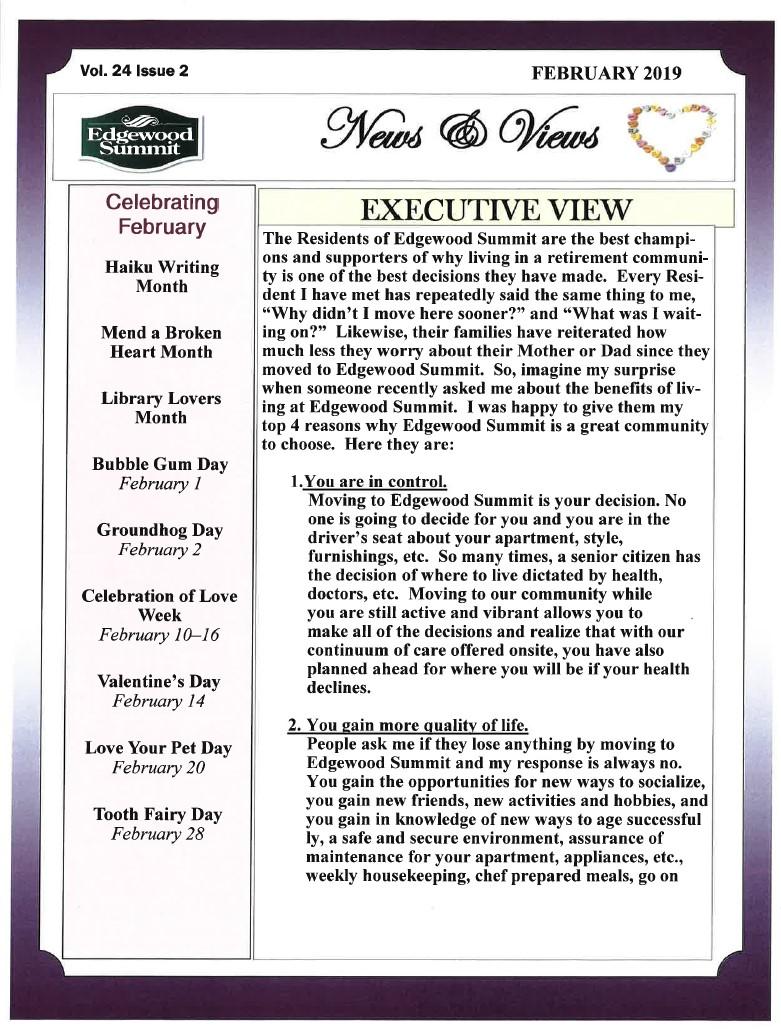 February News & Views