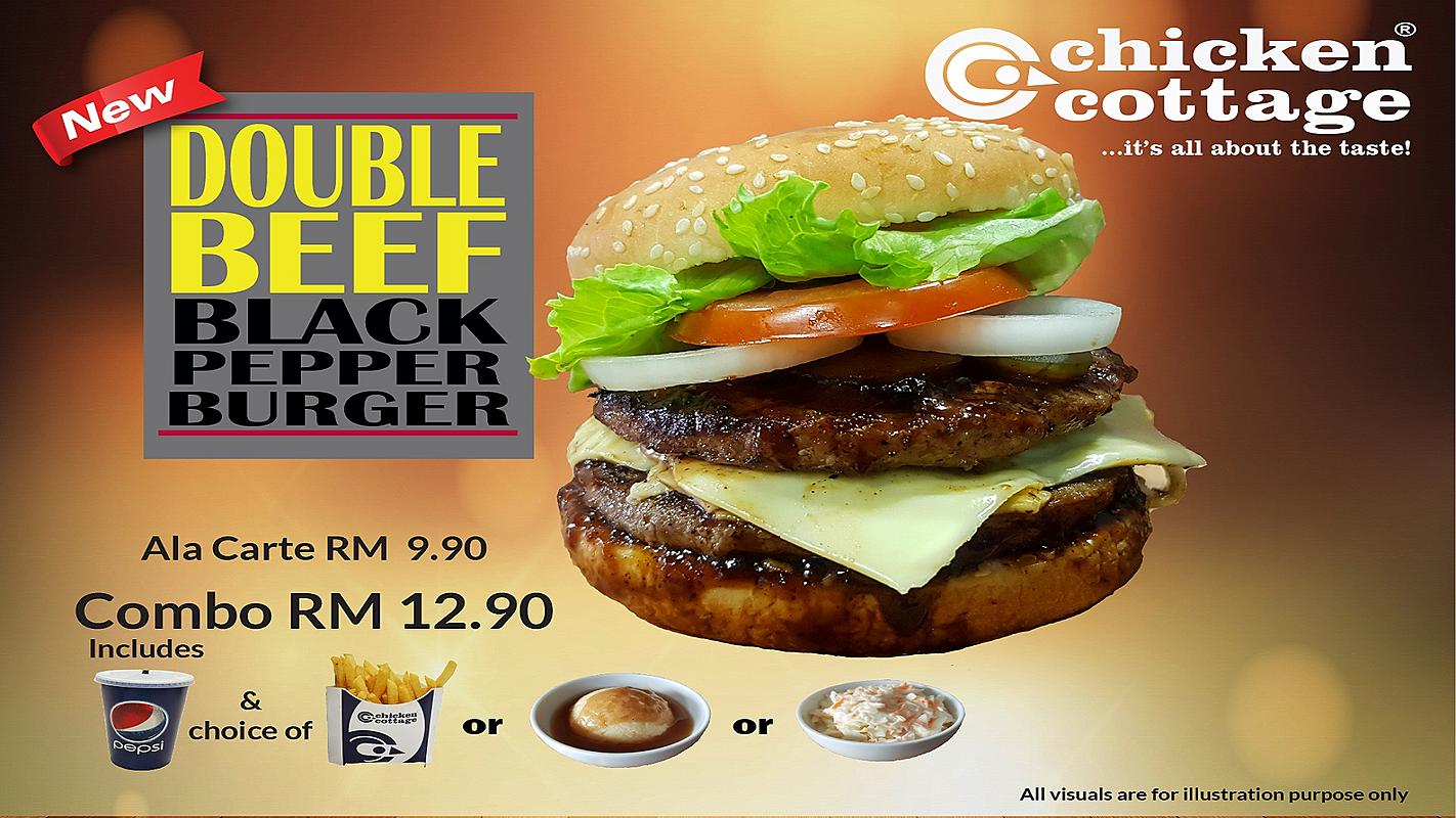 Double Beef Black Pepper Burger
