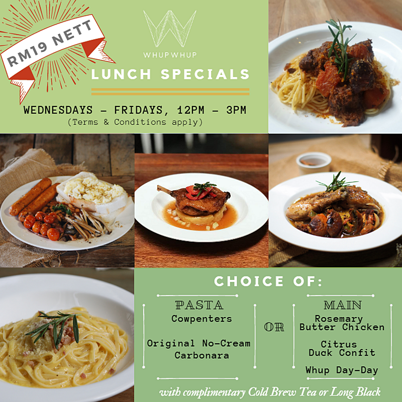Weekday Lunch Specials (12pm - 3pm)