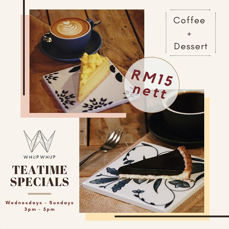 Teatime Specials (3pm - 5pm)