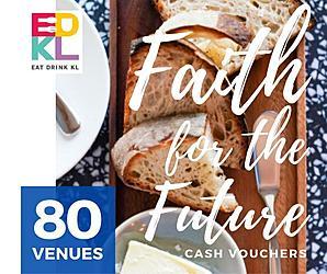 EDKL Faith For The Future: Cash Vouchers at 80 Restaurants & Retailers