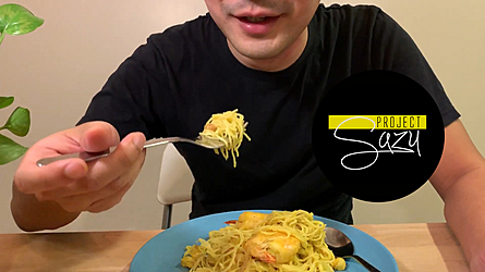 Stay-Home Cooking #5: Durian Spaghetti by Project Sazu