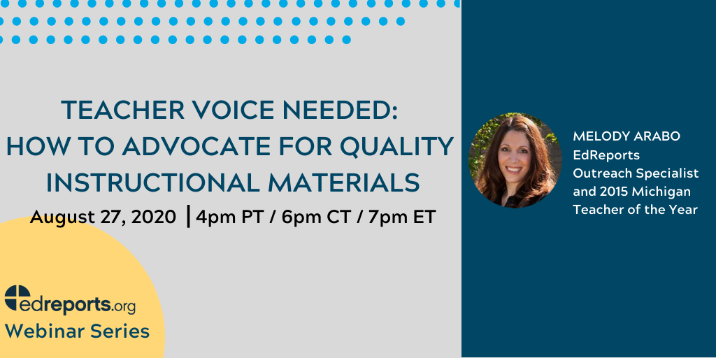 Teacher Voice Needed: How to Advocate for Quality Instructional Materials