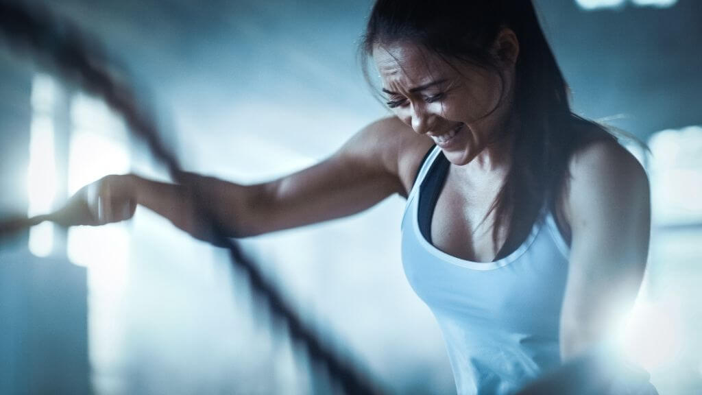 Young woman doing HIIT exercise