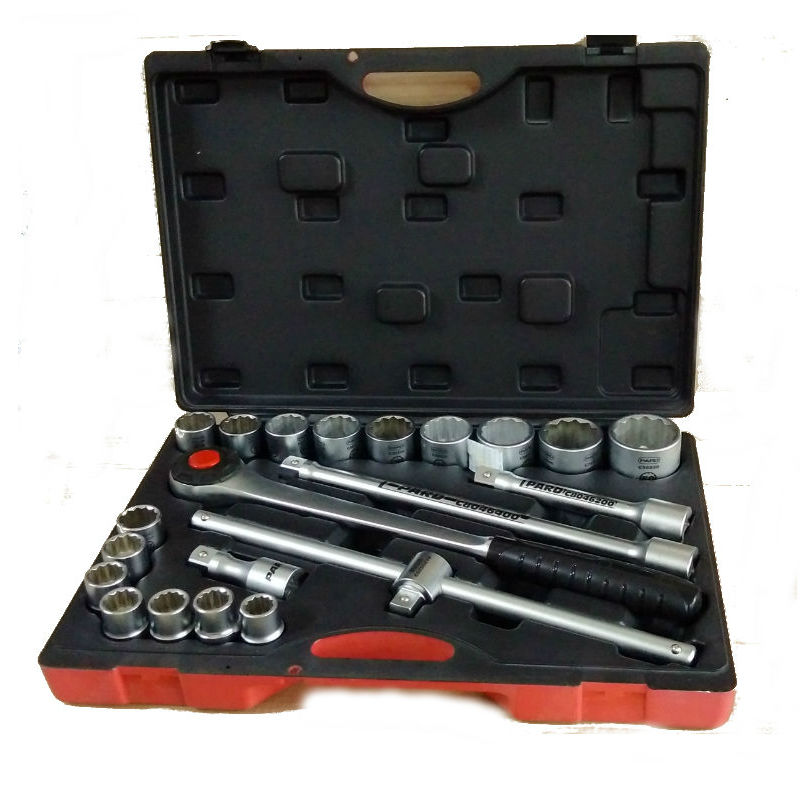 "PARD 21PCS 19~50mm ¾""Dr. 12PT Socket Set"
