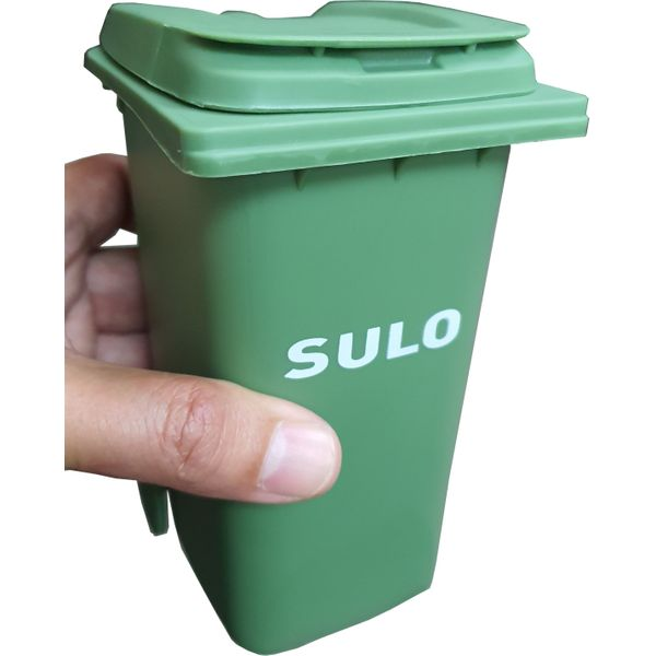 Miniature Mobile Garbage Bin Stationary Holder (scale 1 : 8)
