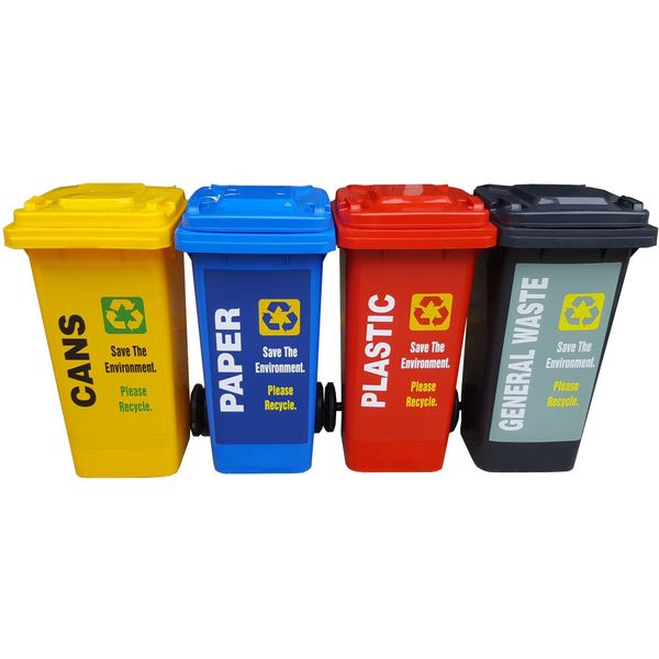 120 Litres 2 Wheels Mobile Recycling Bin