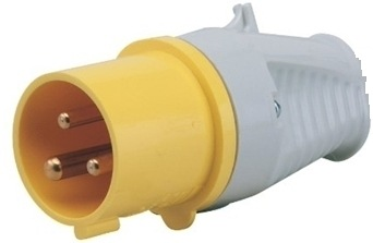 Defender 16A Plug - Yellow 110V E884005