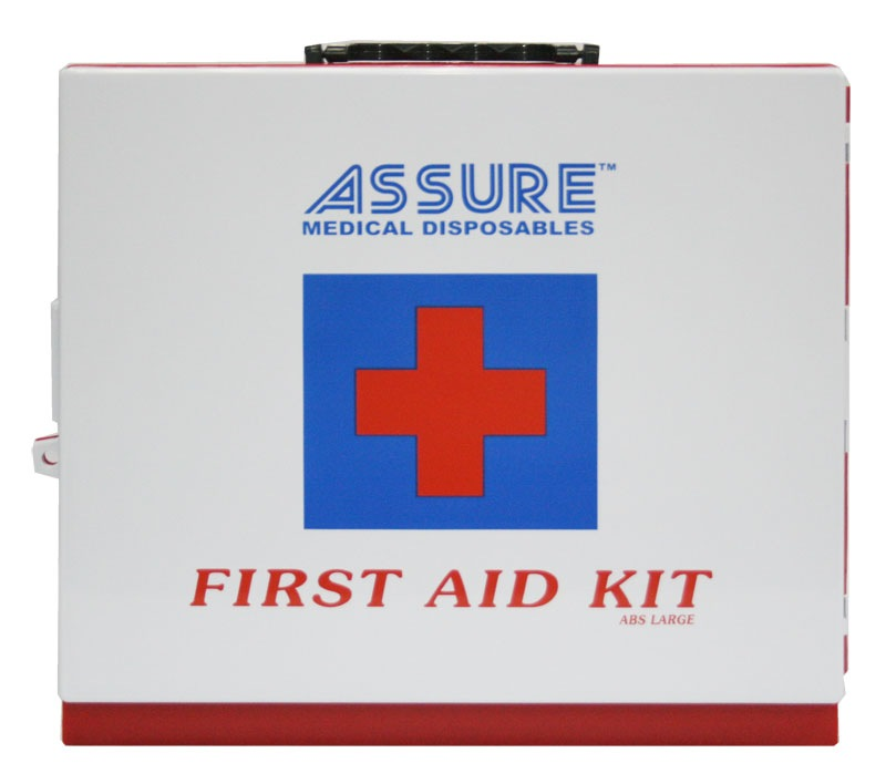 PLASTIC FIRST AID BOX A (25 PEOPLE USE) COMPLETE / REFILL