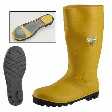 PVC SAFETY BOOT WITH TOE CAP & MIDSOLE