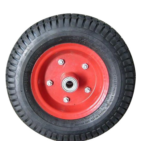 "Pneumatic Wheel for Wheel Barrow-13"" Metal Type"