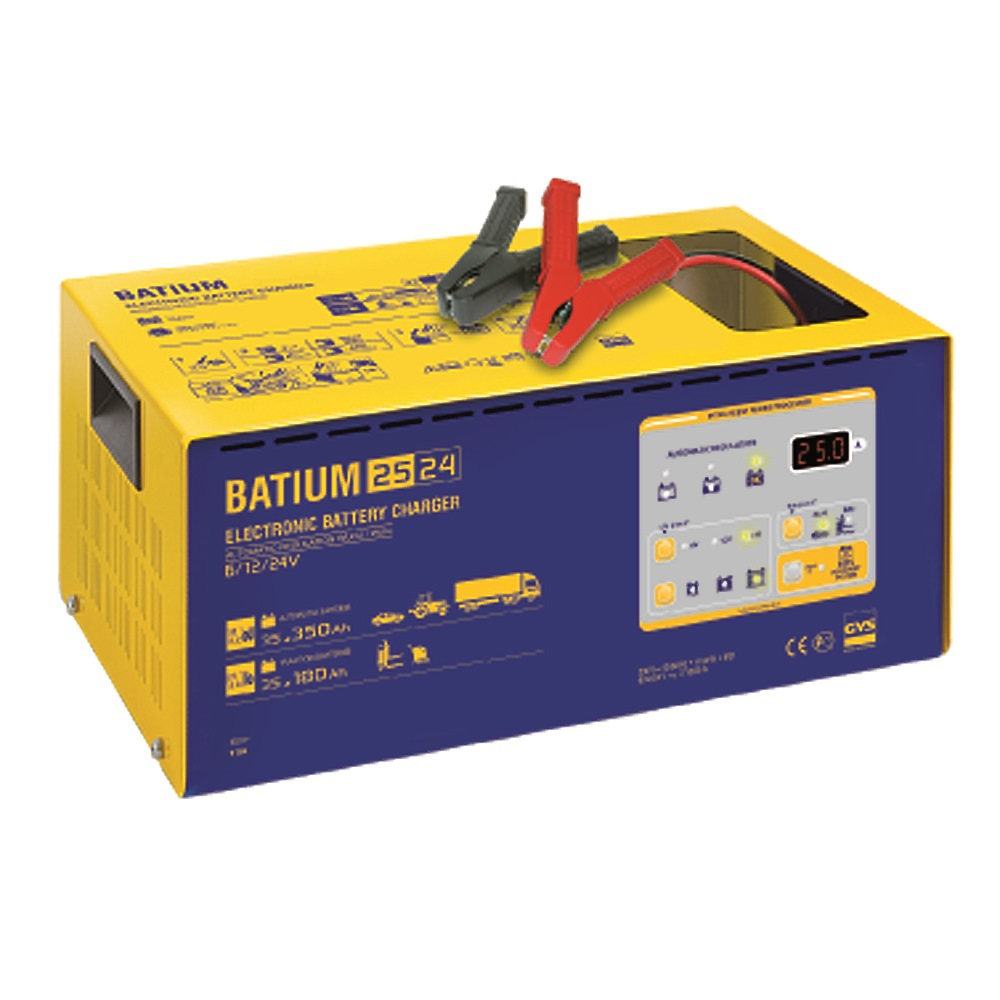 GYS BATTERY CHARGER BATIUM 25/24 - 6V/12V/24V