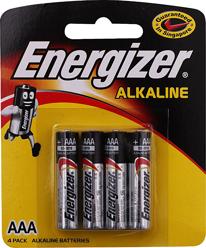 Energizer Aaa Battery EV924S (4 Batteries Per Pack)