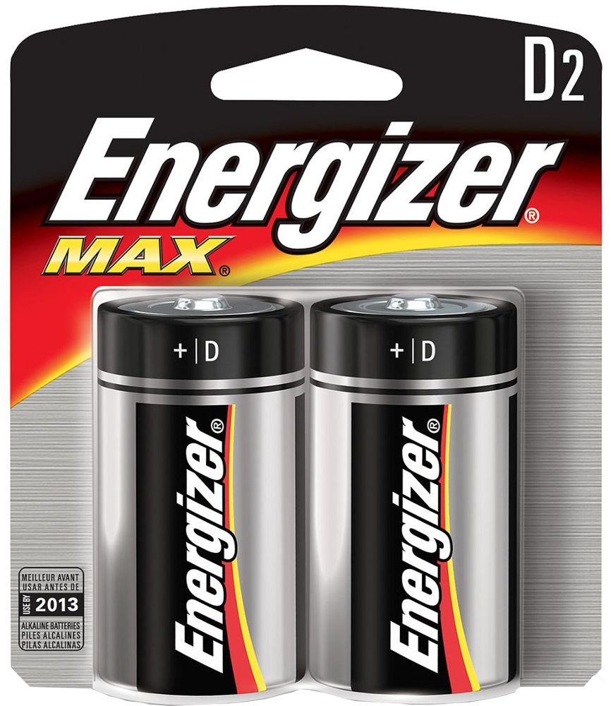 ENERGIZER D BATTERY 2/PACK