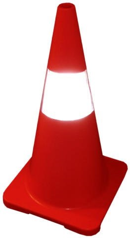 "Safety Cone-30"" (plastic, Pe, Red Base)"