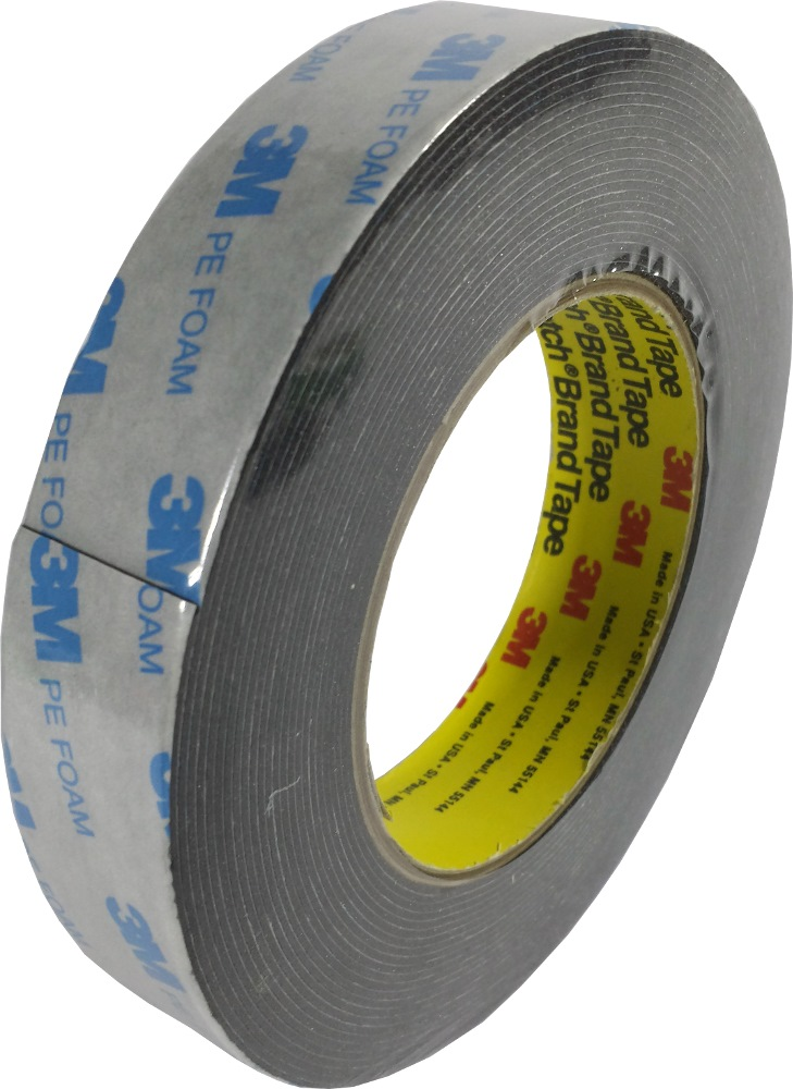 3M PE FOAM TAPE BLACK 8M # 1600