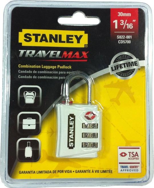 STANLEY CD5700 TSA PADLOCK 30MM