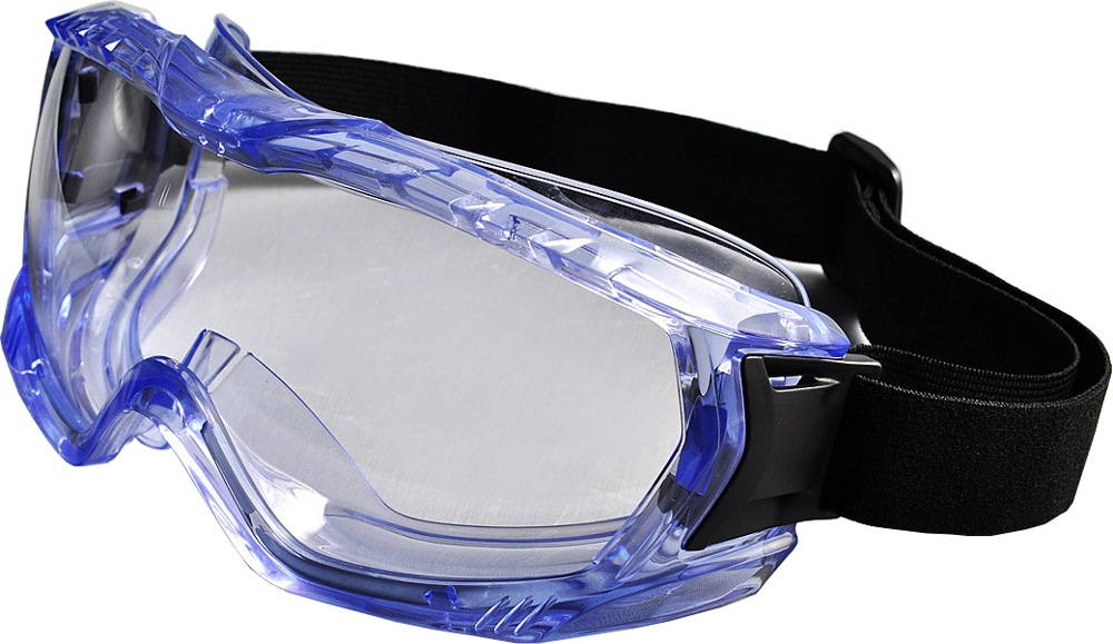 Evon Hd Safety Goggle Wide Vision L/blue G5013cllb [z87+]