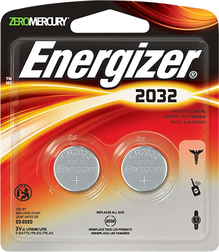 Energizer Lithium Battery 3v (2032) 2/card