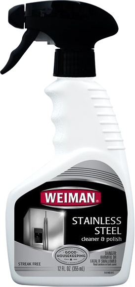 WEIMAN STAINLESS STEEL CLEANER & POLISH  355ML